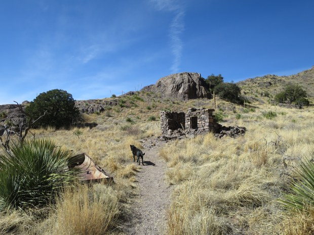 Side trail to see an old rock house, Soledad Canyon Recreation Area, New Mexico