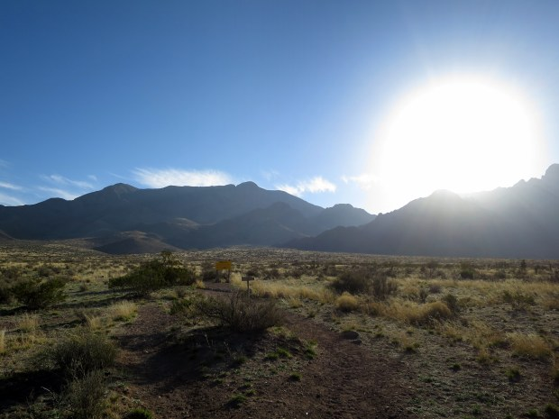 Trailhead, Baylor Pass Trail, Organ Mountain-Desert Peaks National Monument, New Mexico