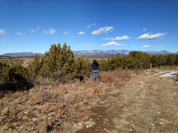 Me taking photos, Lincoln National Forest, New Mexico