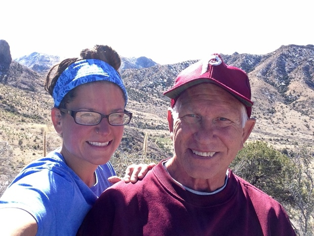 Tom and I on the ridge between Soledad and Bar Canyons, Soledad Canyon Recreation Area, New Mexico
