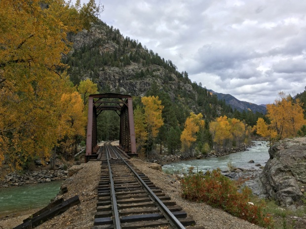 Tracks over Animas River