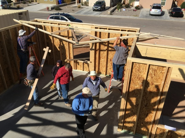 Team carrying in the trusses