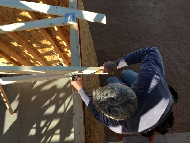 Dean nailing in trusses