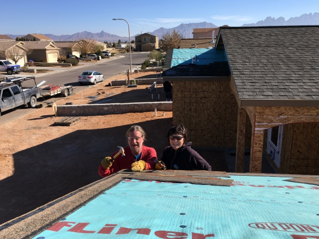 Rick and Kathy starting the next roof