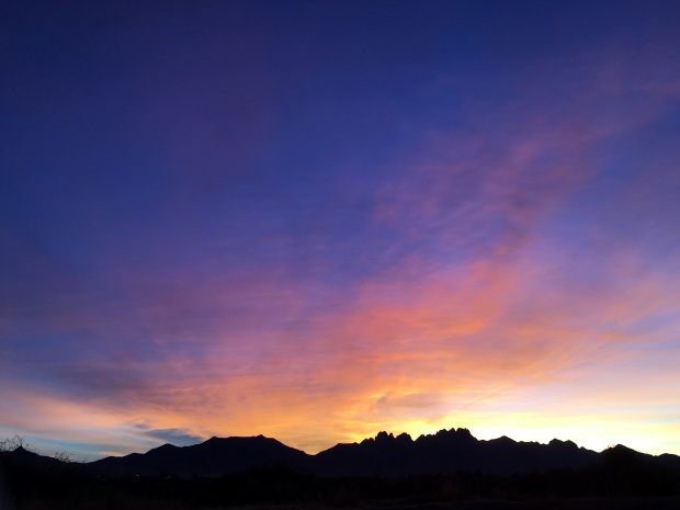 Another magical sunrise over the Organ Mountains