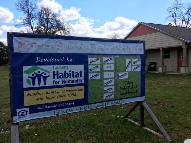 Pinhook Pocket Neighborhood being developed by Lafayette Habitat for Humanity