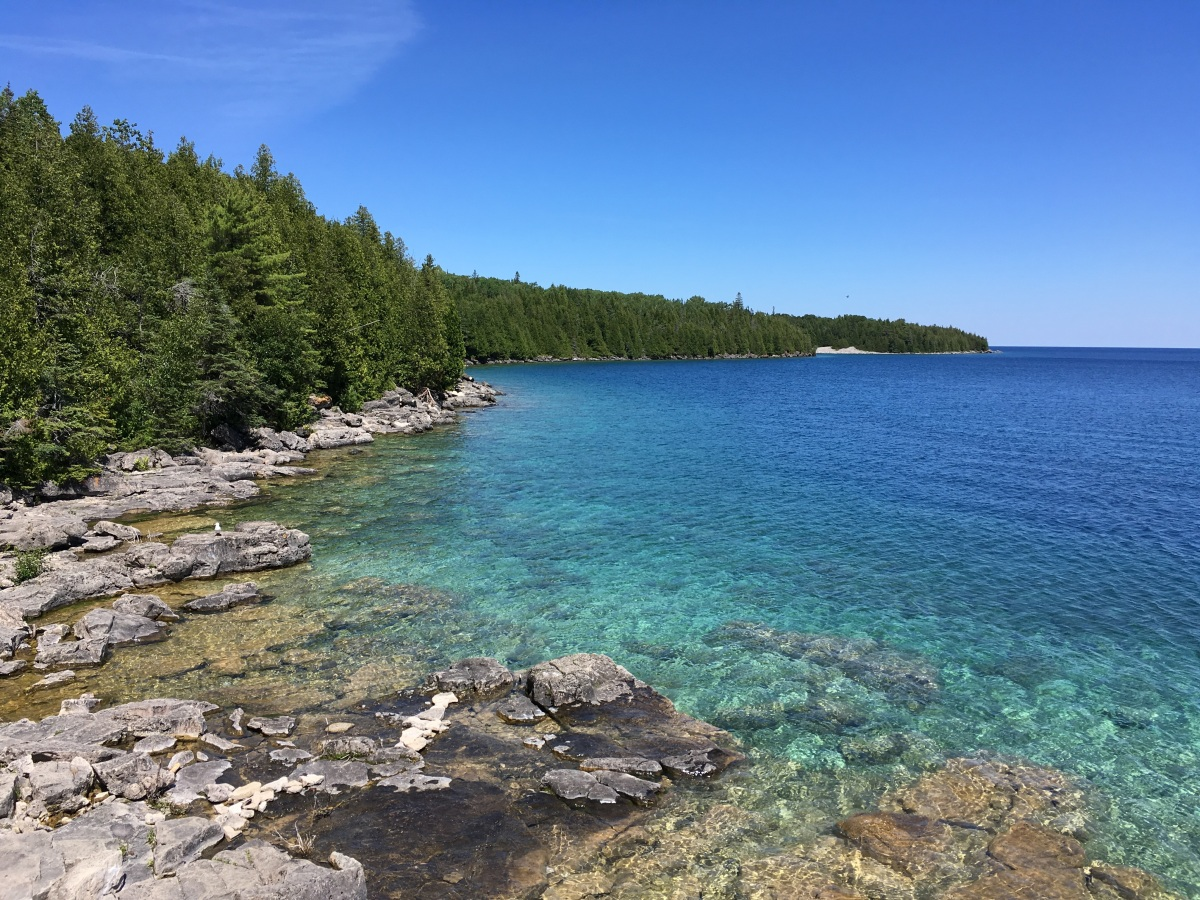 Bruce Peninsula National Park, Part 1: Burnt Point Trail and the Blue-Green Waters of the Georgian Bay